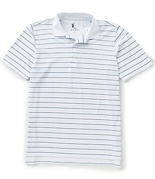 Fairway & Greene Harding Stripe Short-Sleeve Tech Pique Polo Shirt