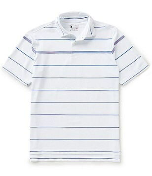 Fairway & Greene Torch Stripe Short-Sleeve Tech Pique Polo Shirt