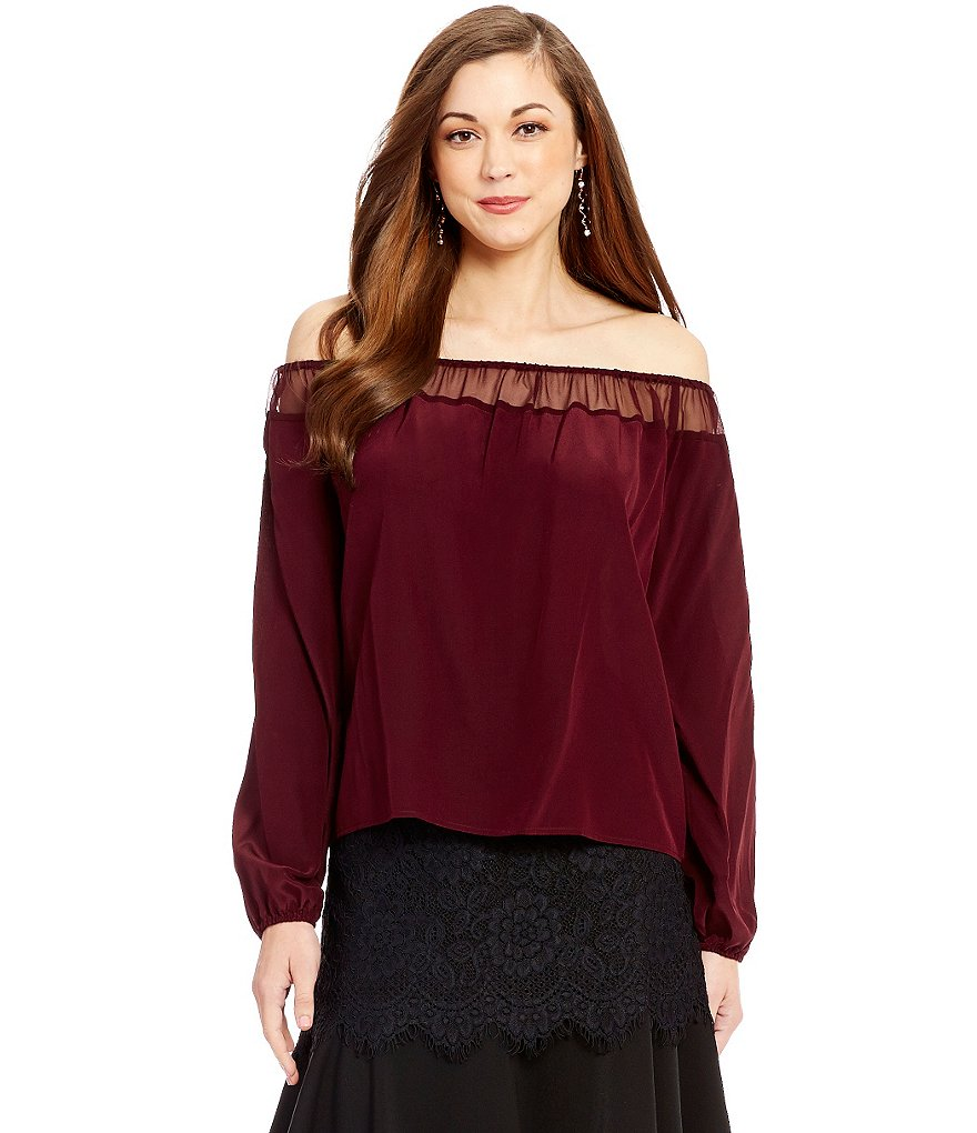 Antonio Melani Travis Silk Off the Shoulder Blouse