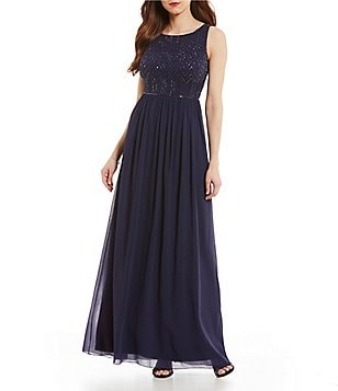 Adrianna Papell Beaded Bodice Sleeveless Dress
