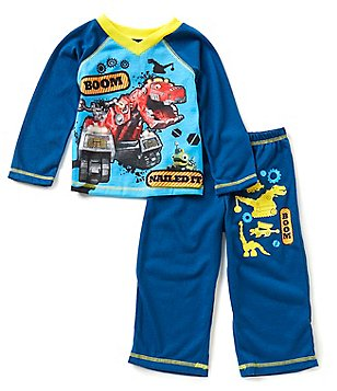 Komar Kids Little Boys 2T-4T DinoTrux Pajama Top & Pants Set