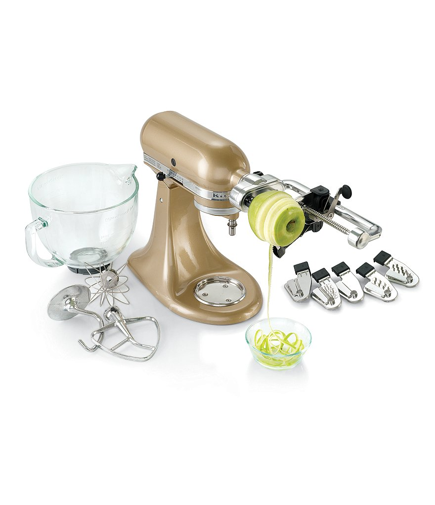 KitchenAid Spiralizer Plus with Peel, Core, and Slice Stand Mixer Attachment