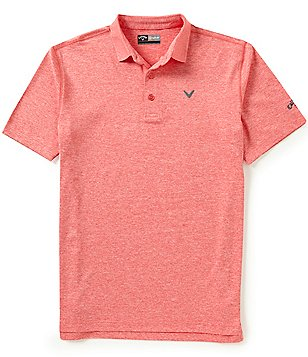 Callaway Opti-Stretch Short-Sleeve Heathered Polo Shirt