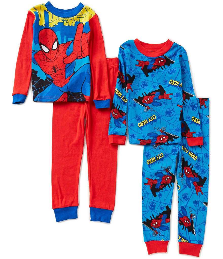 AME Spiderman Little/Big Boys 4-10 I'm the Ultimate Printed Top and Pants 4-Piece Pajama Sets
