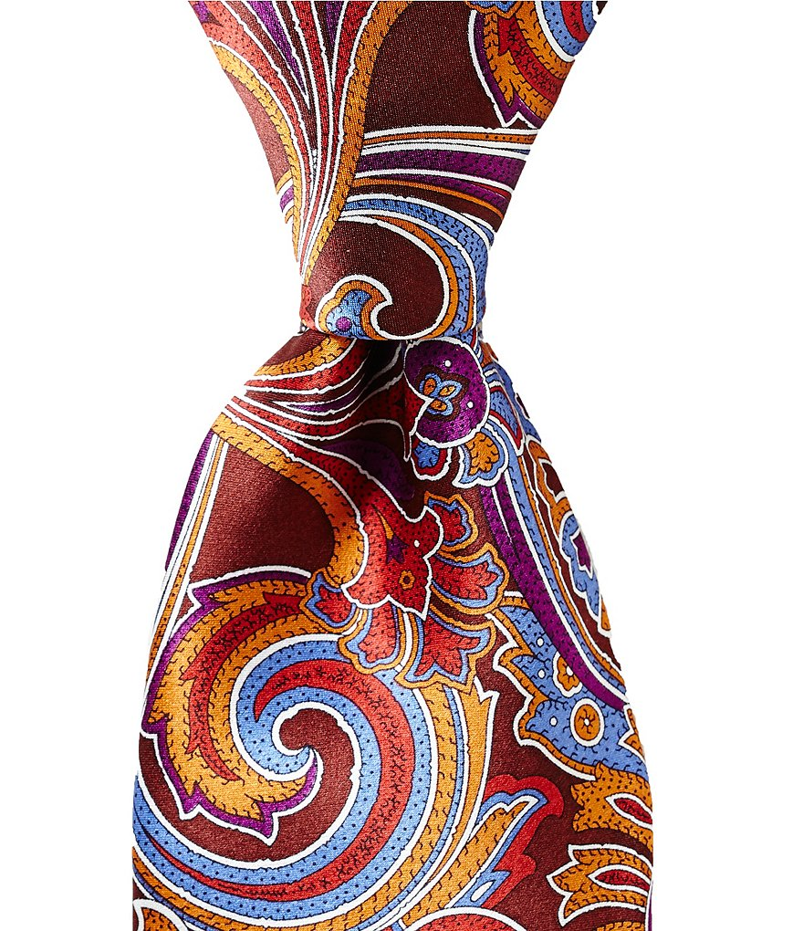 Cremieux Print Paisley Traditional Silk Tie