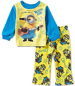 AME Minions Little Boys 2T-4T Rock On! Printed Top and Pants Pajama Set