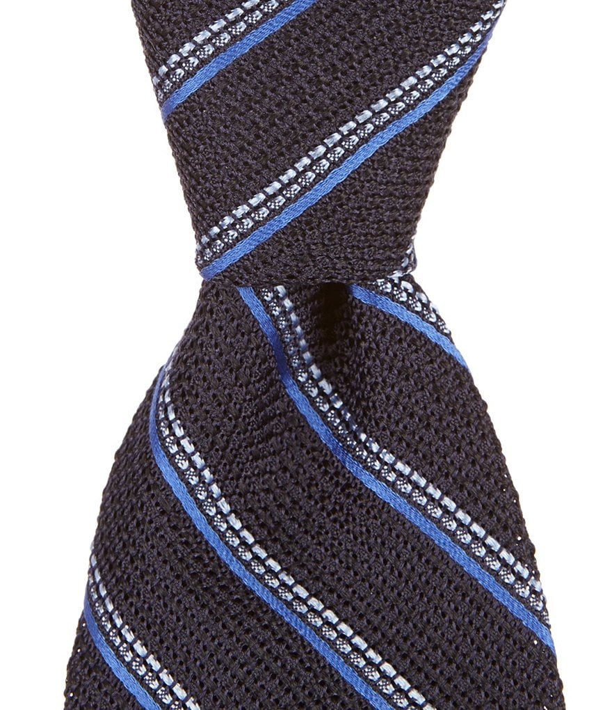 Cremieux Grenadine Stripe Traditional Silk Tie