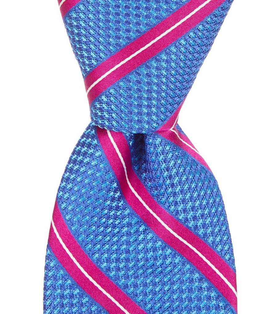 Ted Baker London Grenadine Stripe Narrow Silk Tie