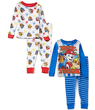 AME Paw Patrol Little Boys 2T-4T Printed Top & Pants 4-Piece Pajama Set