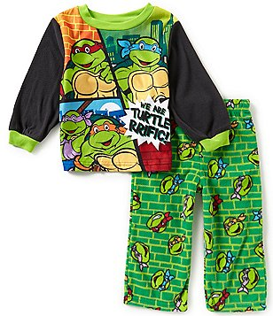 AME Ninja Turtles Little Boys 2T-4T Turtle-Rific Printed Top and Pants Pajama Set