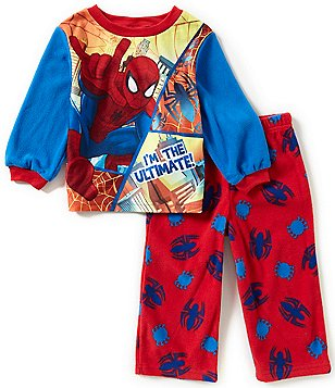 AME Spiderman Little Boys 2T-4T I am Ultimate Printed Top and Pants Pajama Set