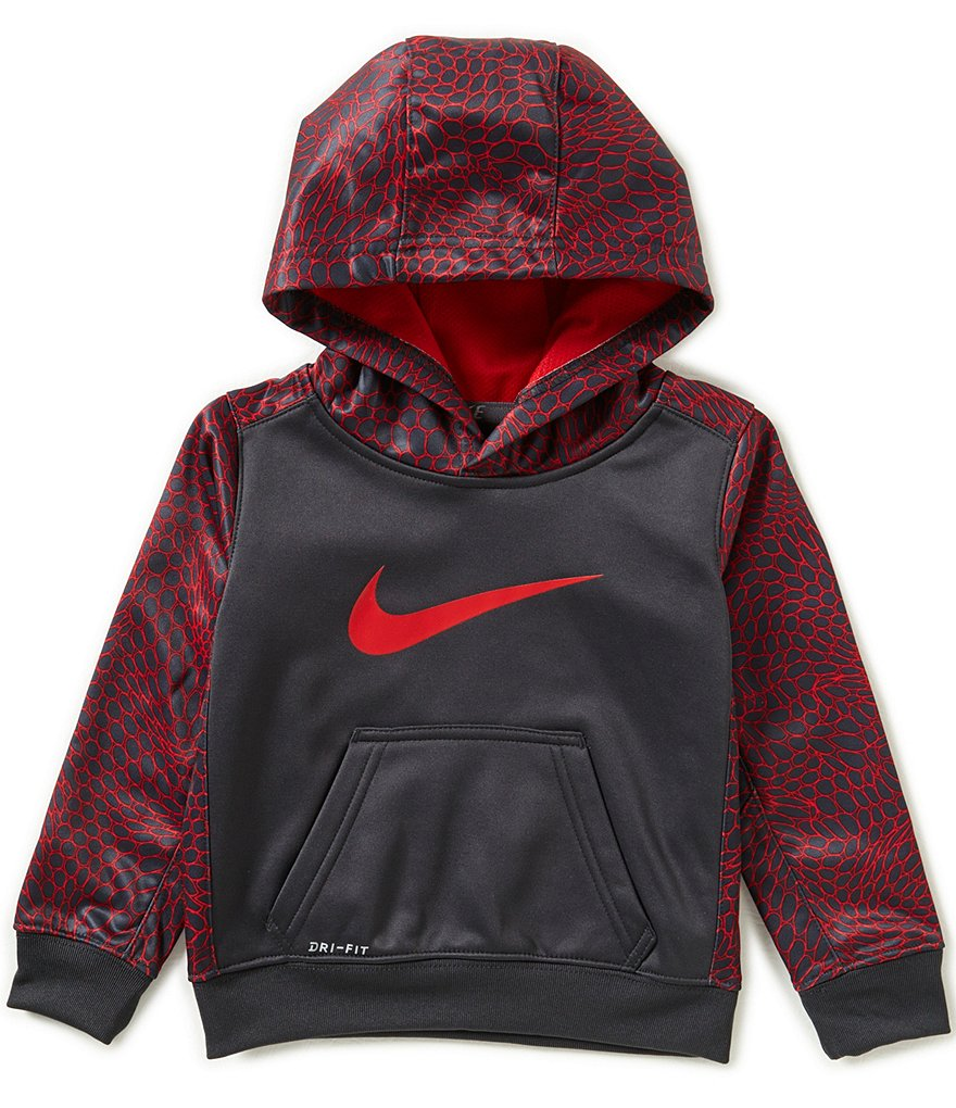 Nike Little Boys 2T-7 Swoosh Therma Fleece Pull-Over Hoodie
