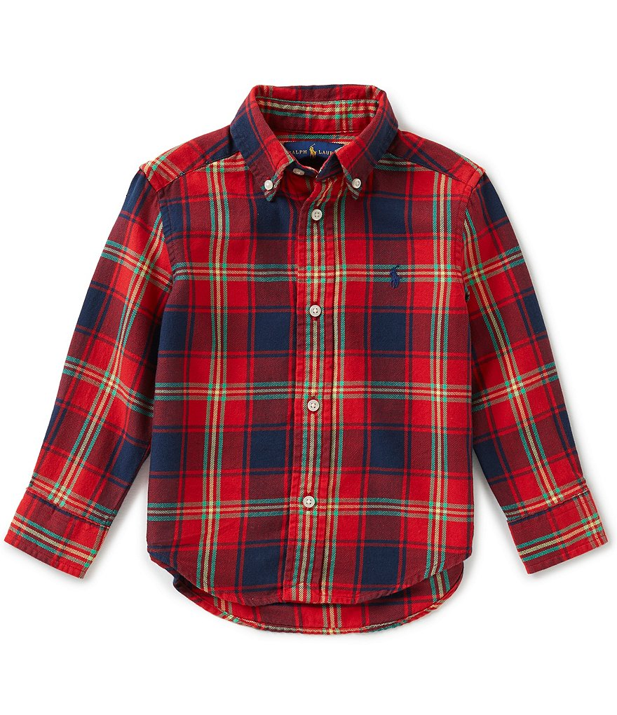 Ralph Lauren Childrenswear Little Boys 2T-7 Plaid Twill Shirt