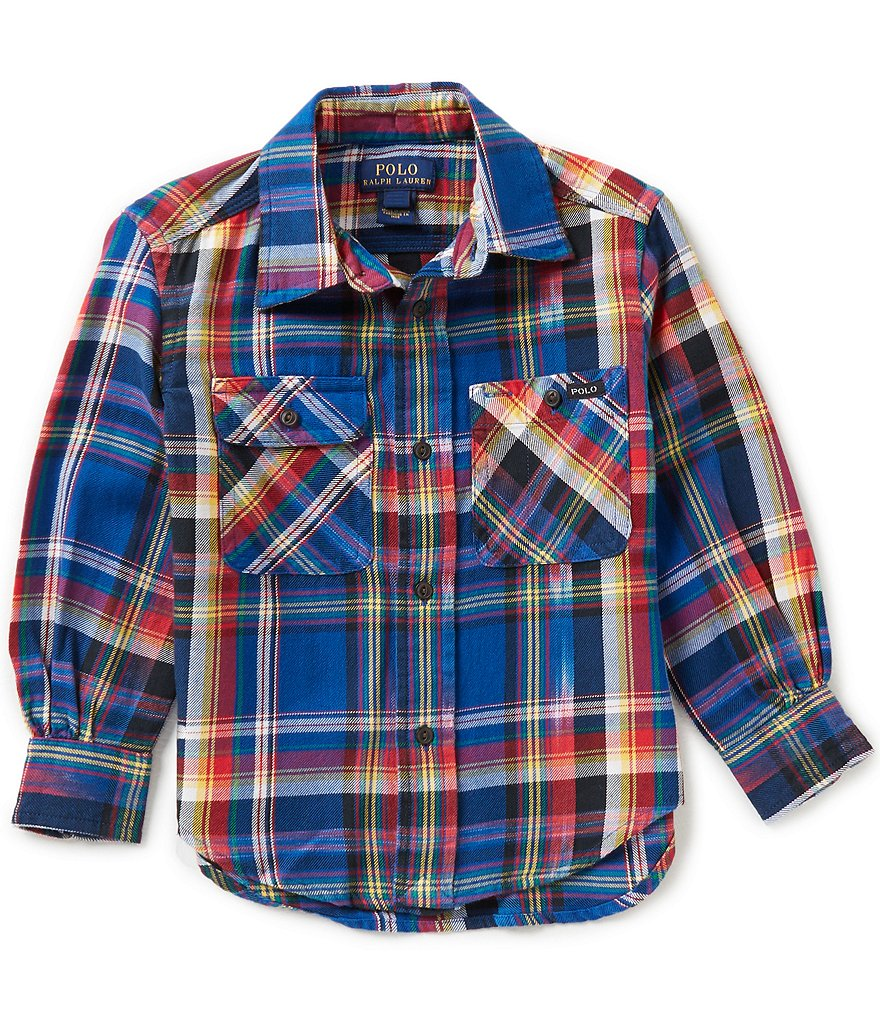 Ralph Lauren Childrenswear Little Boys 2T-7 Matlock Madras-Plaid Twill Shirt