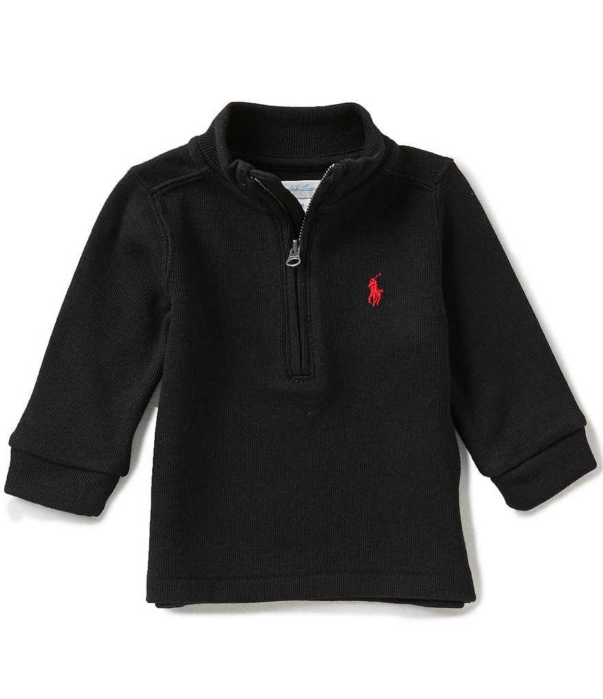 Ralph Lauren Childrenswear Baby Boys 3-24 Months French-Rib Half-Zip Pullover