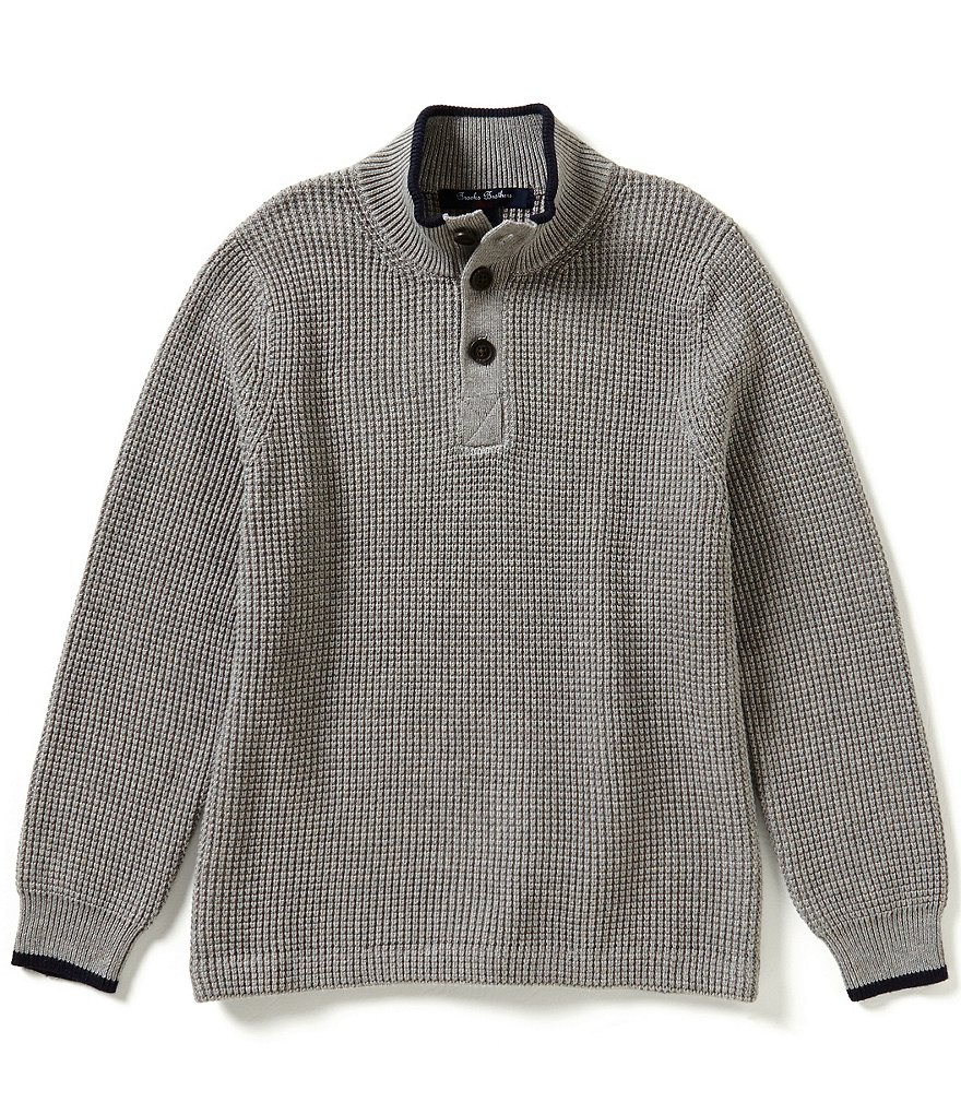 Brooks Brothers Little/Big Boys 4-20 Waffle-Knit Mock Neck Sweater
