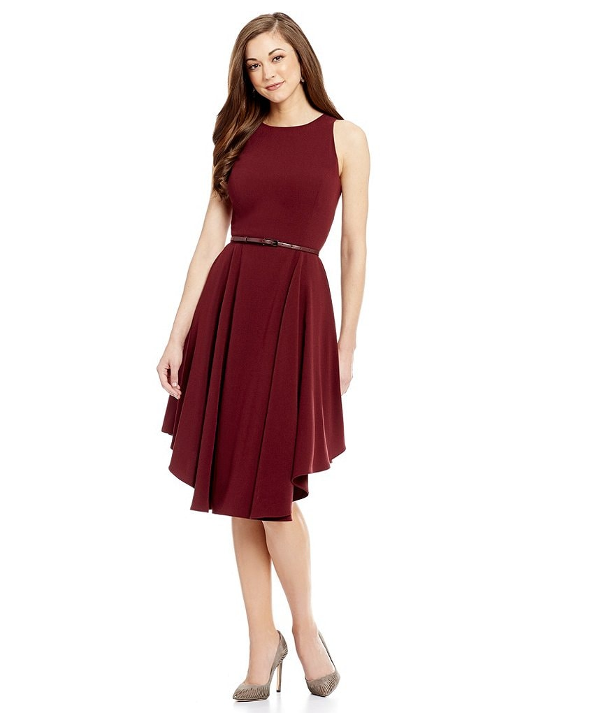 Antonio Melani Ami Sleeveless Fit-And-Flare Crepe Dress