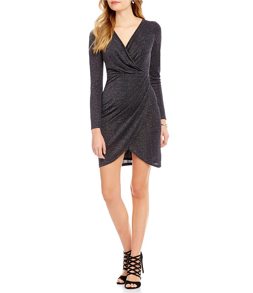CATHERINE Catherine Malandrino Long Sleeve Faux-Wrap Marilyn Dress