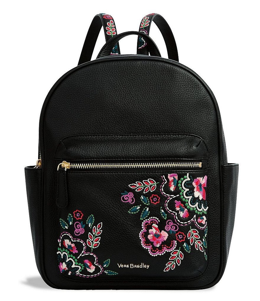 Vera Bradley Leighton Floral-Embroidered Backpack