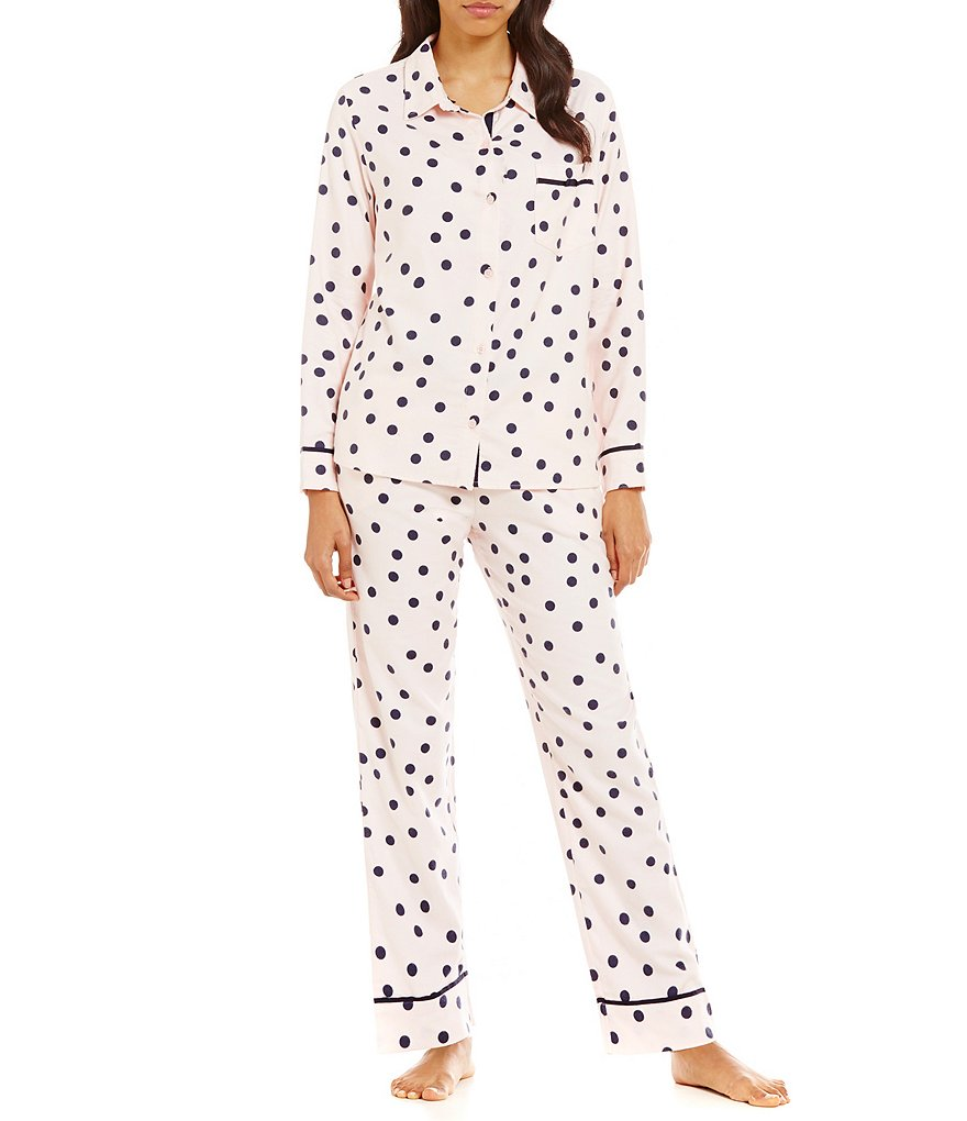 kate spade new york Dotted Flannel Pajamas