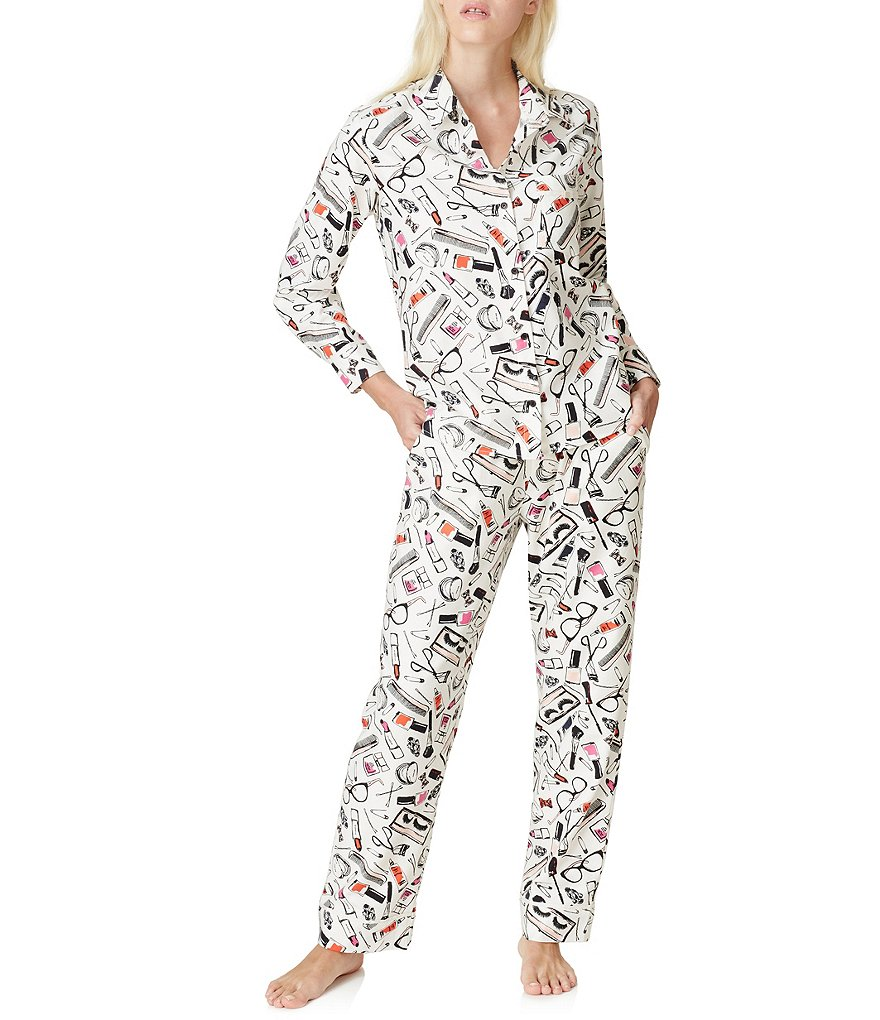 kate spade new york Cosmetics-Print Flannel Pajamas