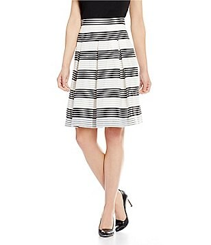 Antonio Melani Pippa Striped Pleated A-Line Skirt