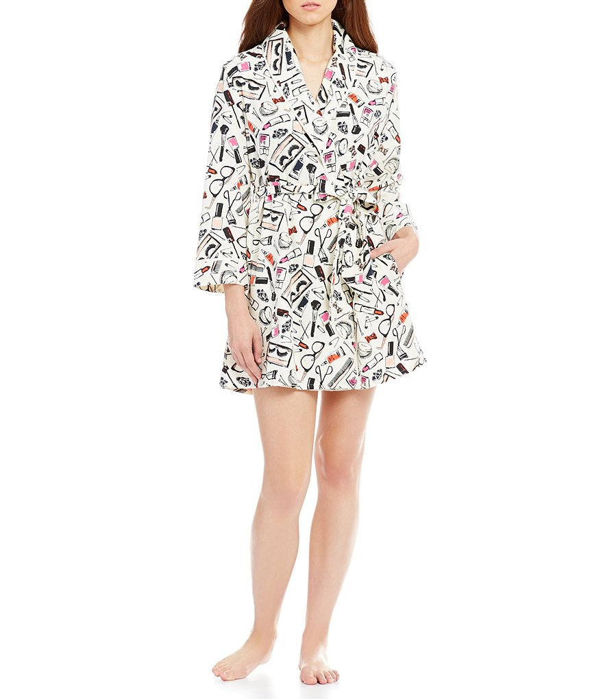 kate spade new york Cosmetics-Print Flannel Wrap Robe