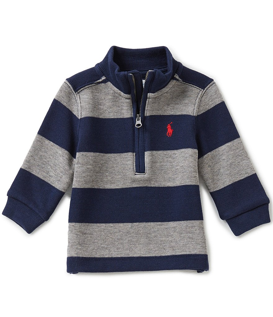 Ralph Lauren Childrenswear Baby Boys 3-24 Months Striped French-Rib Sweatshirt