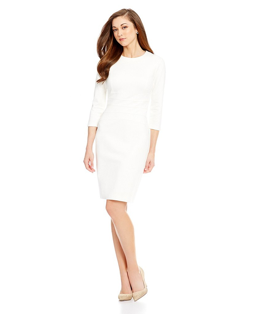 Antonio Melani Minel Crew Neck Ponte Sheath Dress