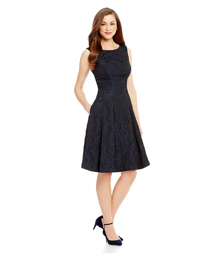 Antonio Melani Audrey Sleeveless Jacquard Dress