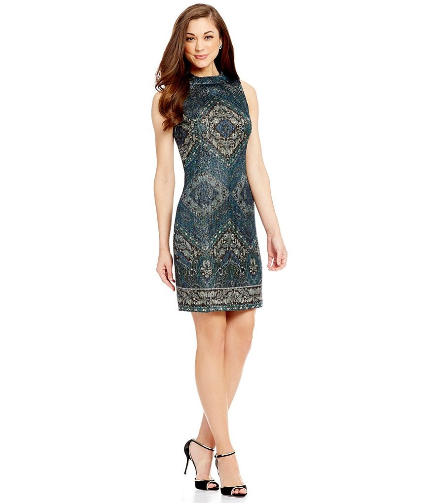 Antonio Melani Juni Metallic Jacquard Dress