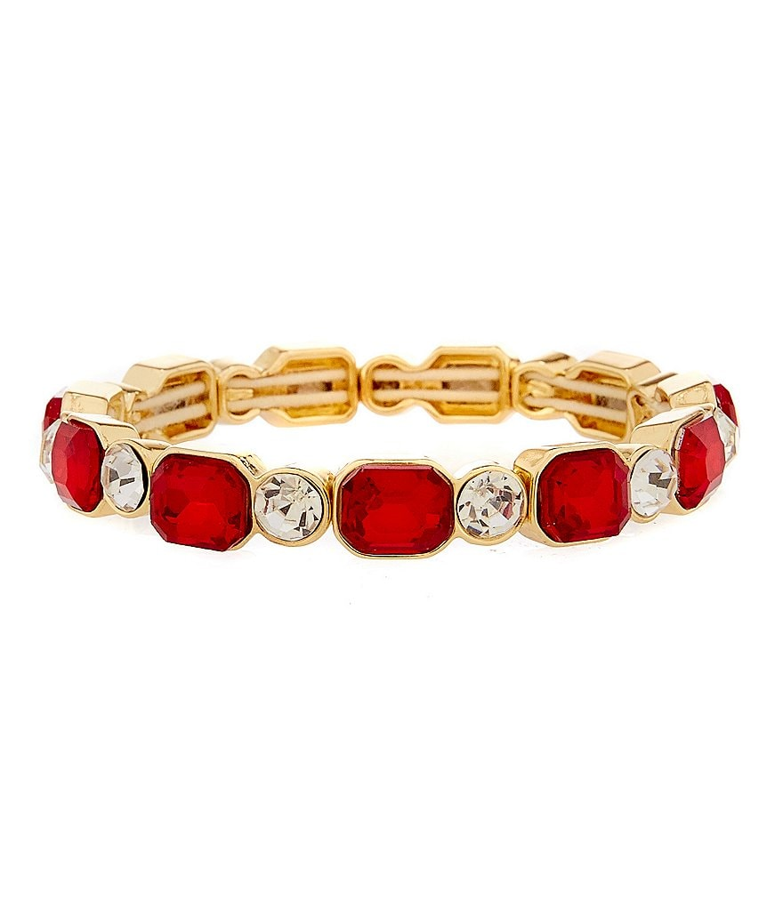 Anne Klein Stone Stretch Bracelet