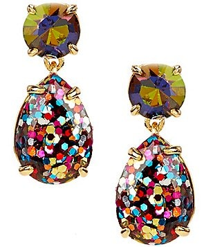 kate spade new york Glitter Double-Drop Earrings