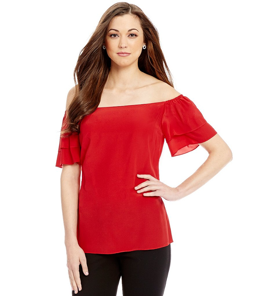 Antonio Melani Serena Off-The-Shoulder Silk Blouse