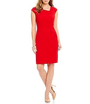 Antonio Melani Ann Crepe Sheath Cap Sleeve Dress