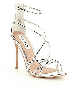 Steve Madden Satire Metallic Strappy Dress Sandals