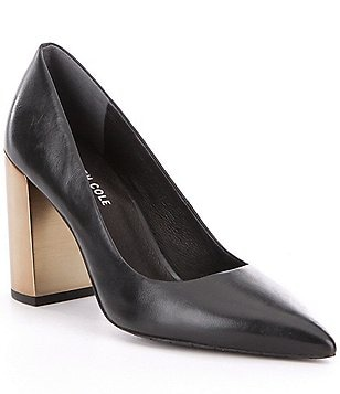Kenneth Cole New York Margaux Leather Pointed-Toe Pumps