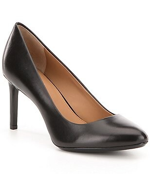 Calvin Klein Salsha Leather Pointed Toe Pumps