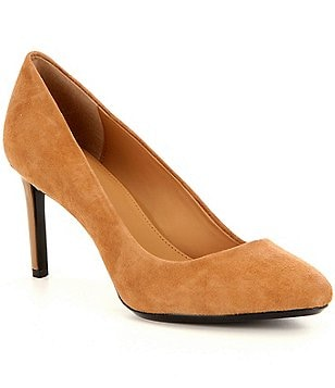 Calvin Klein Salsha Suede Slip-On Pumps
