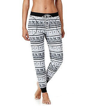 Peanuts Snoopy Fair Isle Microfleece Jogger Sleep Pants