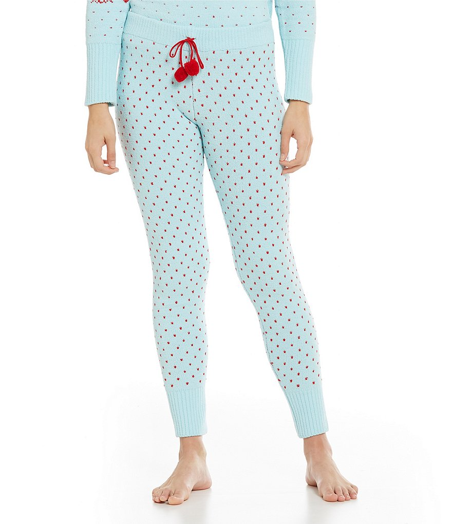 Betsey Johnson Sweater-Knit Sleep Pants
