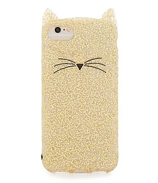 kate spade new york Glitter Cat iPhone 7 Case