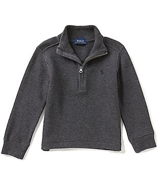 Ralph Lauren Childrenswear Little Boys 2T-7 French-Rib Half-Zip Pullover