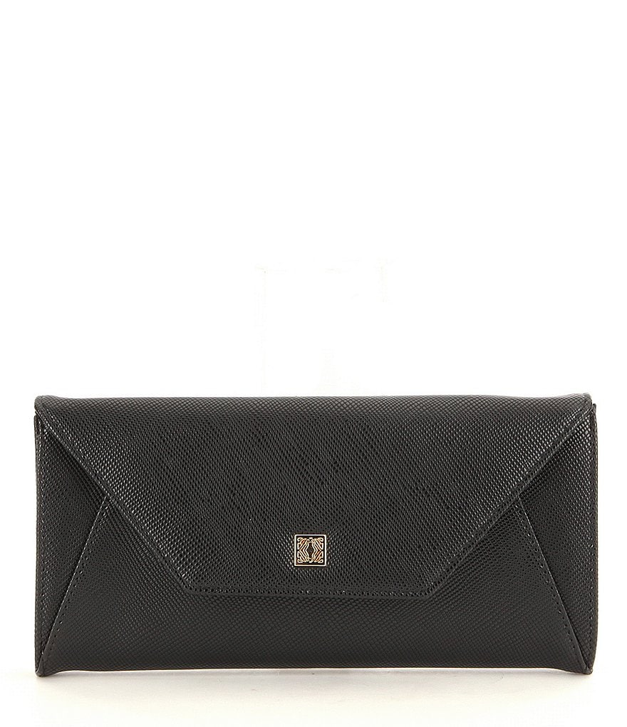 Kate Landry Crosshatched Envelope Travel Wallet