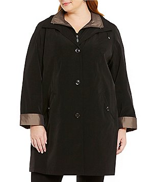 Gallery Plus A-Line With Detachable Hood Rain Swing Coat