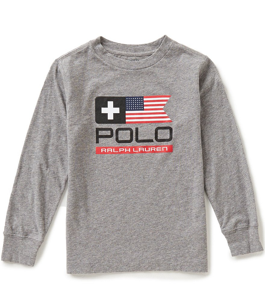 Ralph Lauren Childrenswear Little Boys 2T-7 Flag-Inspired Graphic Tee