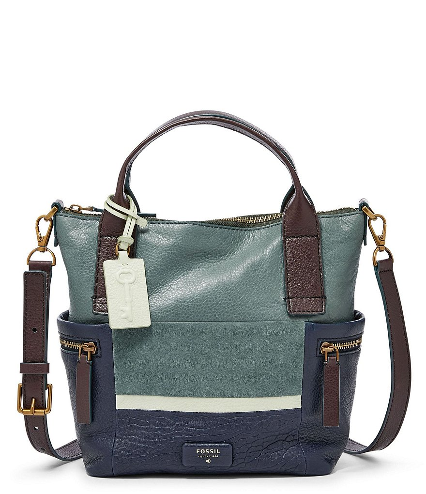Fossil Emerson Patchwork Medium Satchel
