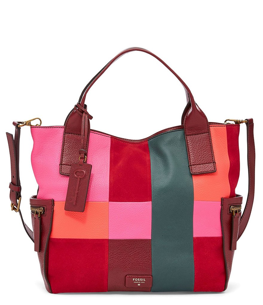 Fossil Emerson Patchwork Satchel