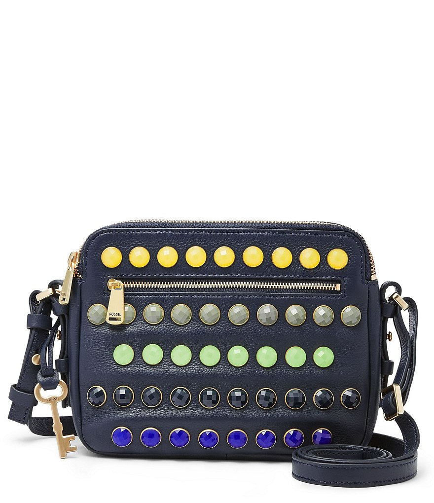 Fossil Piper Gem-Embellished Toaster Cross-Body Bag