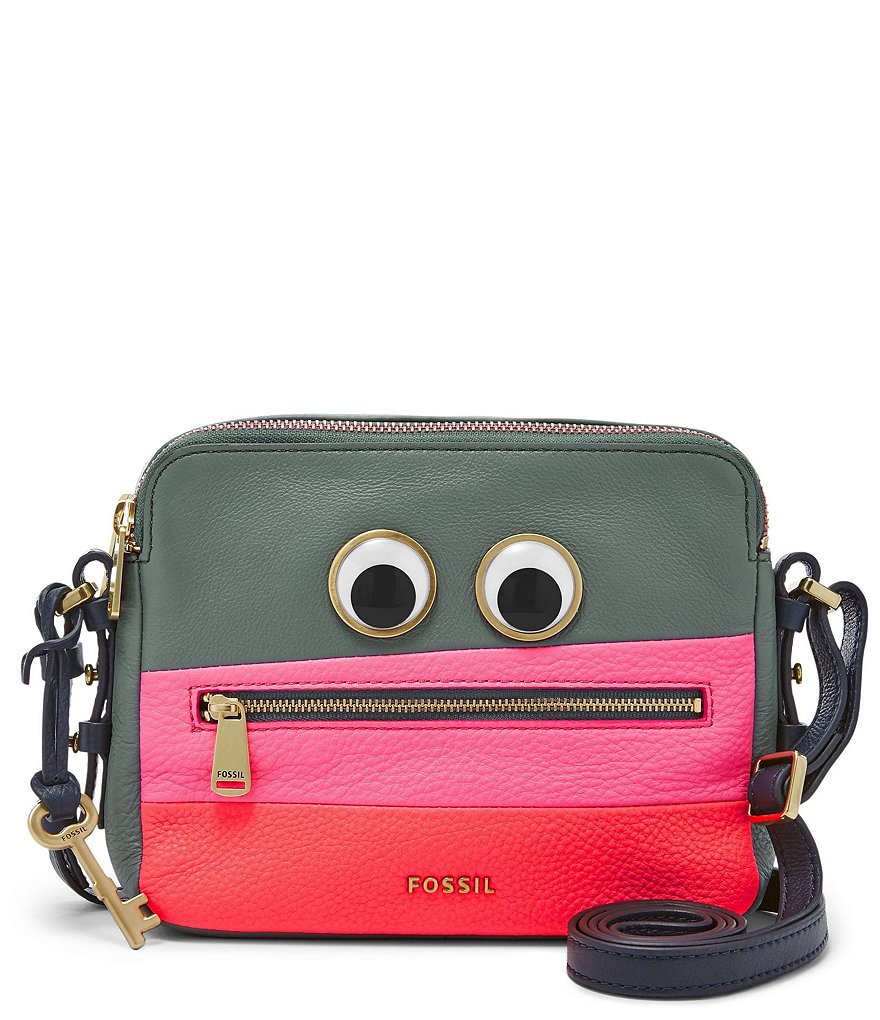 Fossil Piper Googly Eyes Toaster Cross-Body Bag